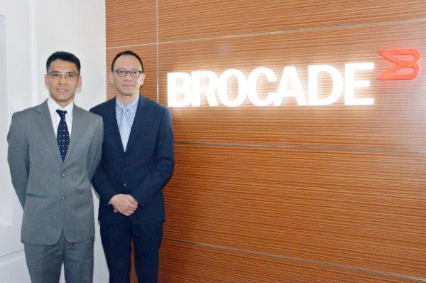 右起:Brocade香港及澳門地區總經理 譚國雄、及Brocade 資深技術顧問 司徒永基。