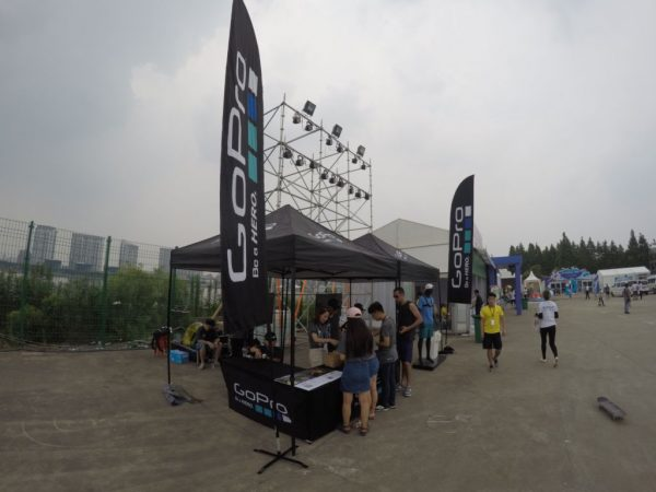 GoPro在Slide The City设置展位