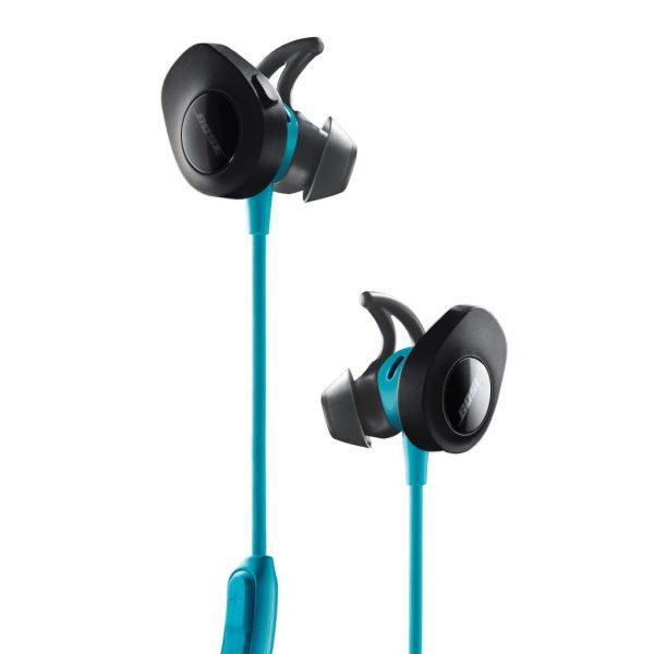 SoundSport®無線耳機,耳塞採用柔軟的彈性矽膠材料,傘狀的外形 能夠輕柔地貼合和密封耳道。