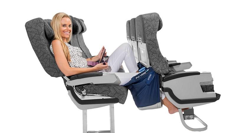 Fly LegsUp 飛行吊床,搭廉航紅眼班機也能爽爽睡!